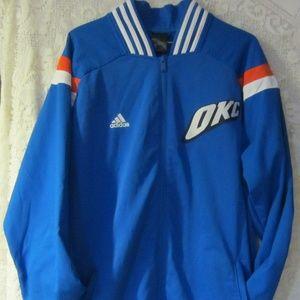 Adidas OKC Basketball warm up jacket mens XL